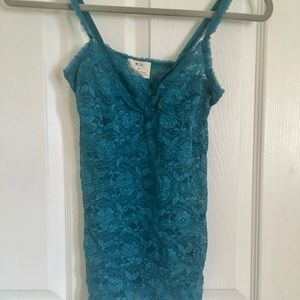 Lace Turquoise Tank